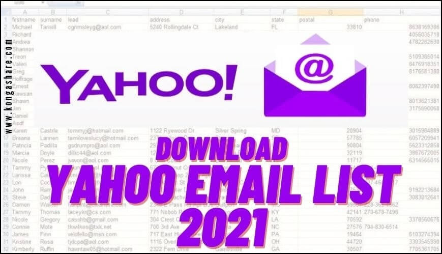 download free yahoo email list 2021 free_kongashare.com_mv