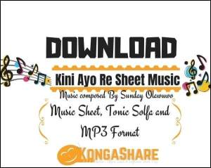kini ayo re sheet music by sunday olawuwo_kongashare.com_mv