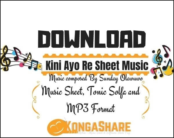 kini ayo re sheet music by sunday olawuwo_kongashare.com_mv