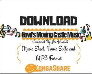 Merry Go Round of Life - Howl's Moving Castle Piano sheet music pdf midi