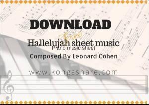 "Download Free hallelujah ""leonard cohen"" piano sheet music in PDF/Midi"