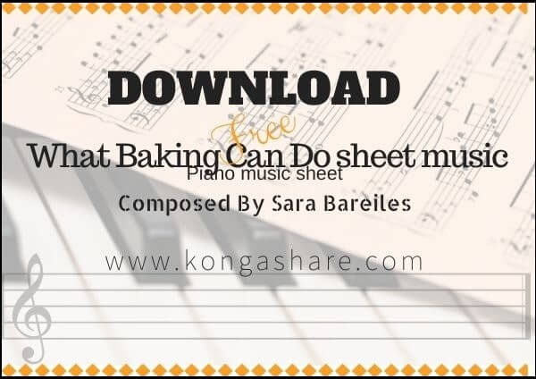 what baking can do sheet music pdf lyrics midi_kongashare.com_mu