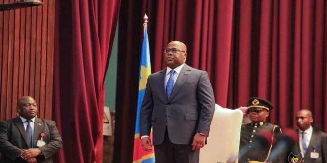 Fatshi - President de la RDC - au Palais du peuple de Kinshasa.