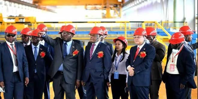 Visite chez China Non Ferrous Metals Company (CNMC) en RDC.