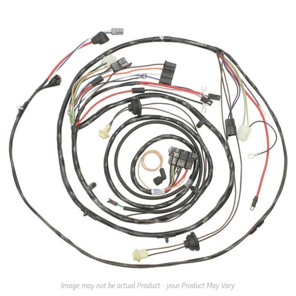 medium resolution of 1971 monte carlo forward lamp harness v8 engine w warning lights ac 17480