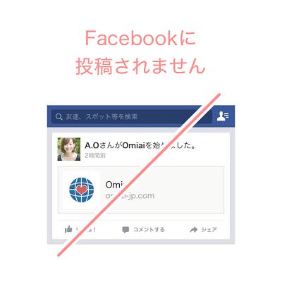 Facebookには投稿されない
