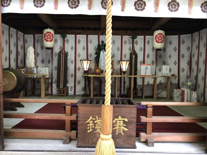 敏馬神社 仮の拝殿