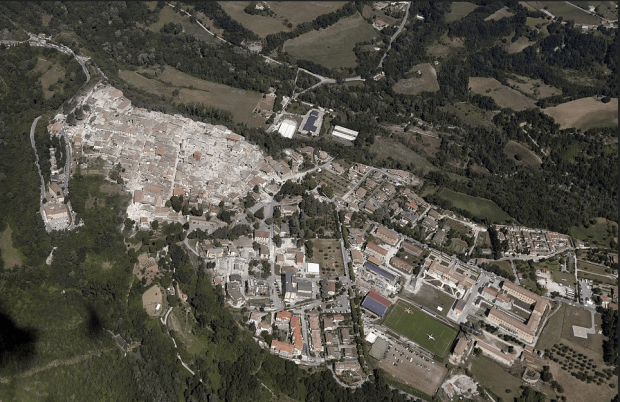 Italian Earthquake19: In the town of Amatrice, the earthquake totally razed the historical center of the town while the newer part of town appears to be intact