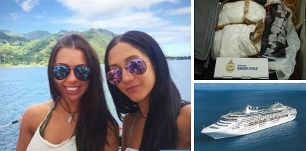 Canadian Beauties with a lavish lifestyle, Melina Roberge, and Isabelle Lagacé  accused of smuggling $23.3, Million worth of cocaine into Sydney on the Sea Princess cruise ship - they were living it up, while cruising around the world
