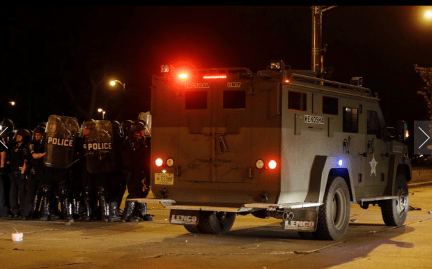 protestors and police in Milwaukee6
