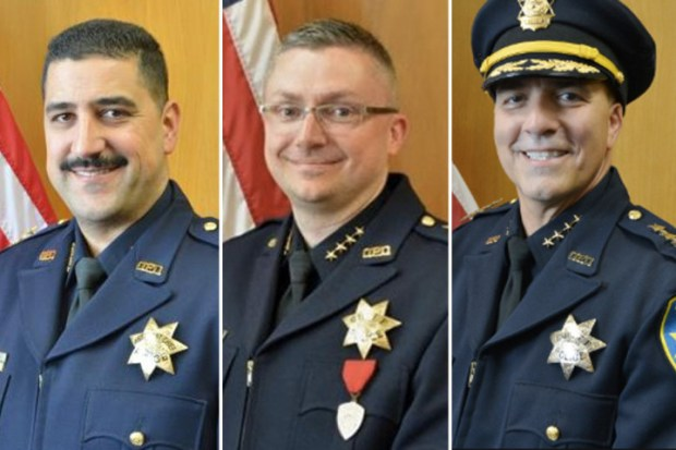 From left to right, former Interim Chief Paul Figueroa, former Police Chief Sean Whent, and former Chief Ben Fairow. .jpg