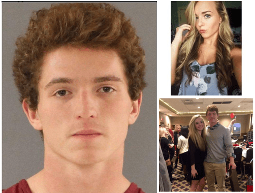 Crocodile tears! College football player, William Riley Gaul, 18, charged with killing High School cheerleader, Emma Walker, whose passing he's been mourning publicly