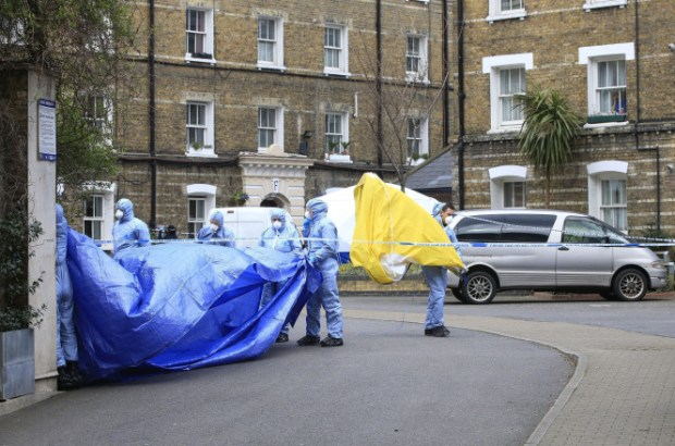 Breaking Bad Killer Police  work at the scene after the remains of PC Gordon Semple was found1.jpg