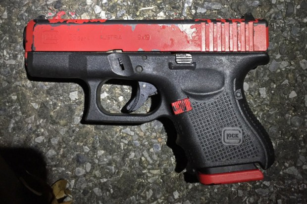 Gun recovered at the scene of the 'Partrick Allen shooting'.jpg