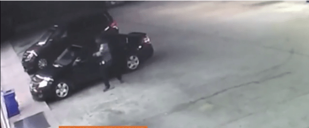 Brittany Diggs' kidnapper swaggers out of her carjacked vehicle3.png