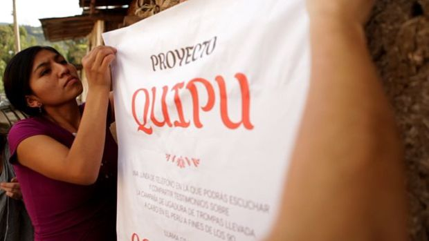 Under the Quipu project, people across Peru can use a free telephone line to share their stories3