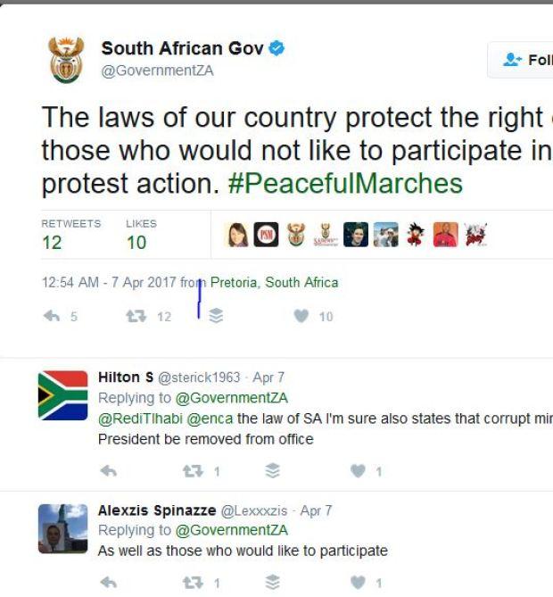 SA govt tweets on protests.JPG