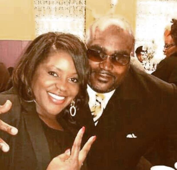 Terence Crutcher (right) poses with his twin sister Tiffany