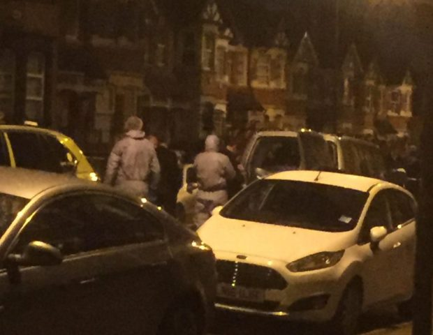 ts believed the raid is related to the arrest of a terror suspect in Westminster today.jpg