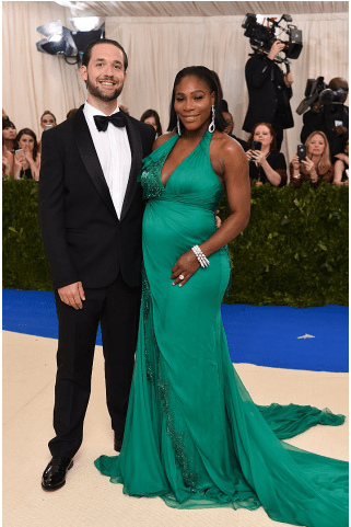 Alexis Ohanian pregnant Serena at the  Costume Institute Benefit at the the Metropolitan Museum of Art, New York last month. .png