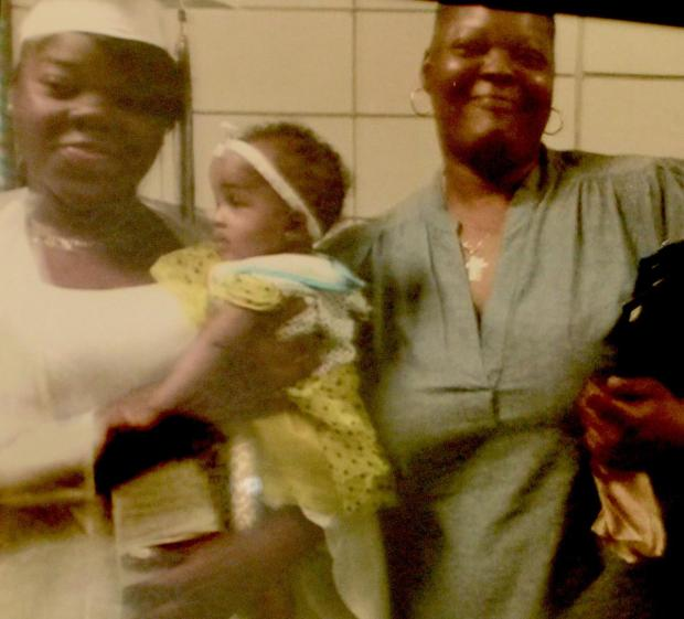 Tammy Lewis [left], with her daughter, baby Nylaha, and her mother Belinda1..jpg