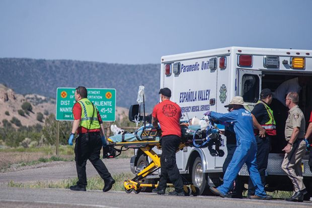 Emt's transport one of Damian Herrera's victim