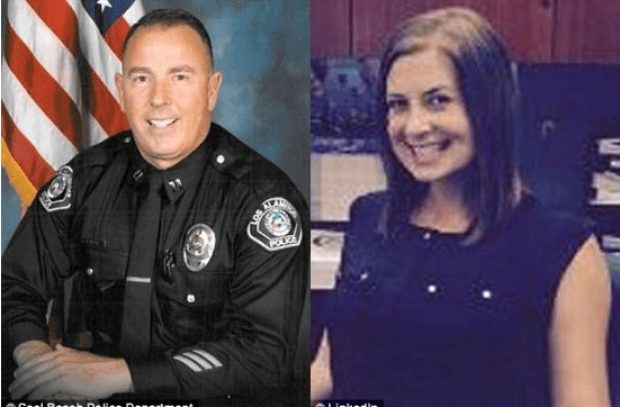 Los Alamitos police captain Rick Moore [left] andAmanda Jensen 1.png