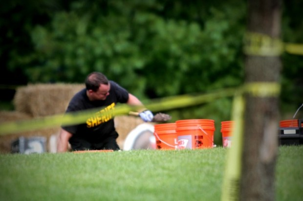 Police excavate soil at Brooke Skylar Richardson;s home 2