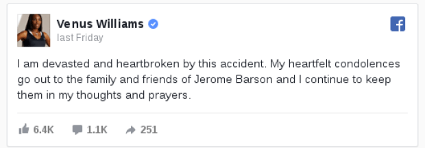 Venus Williams condolence  message to Barson family1.png