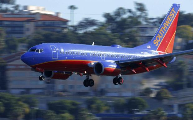 A passenger seated behind Michael Kellar aboard a Southwest flight said he was typing the illicit texts in plain sight