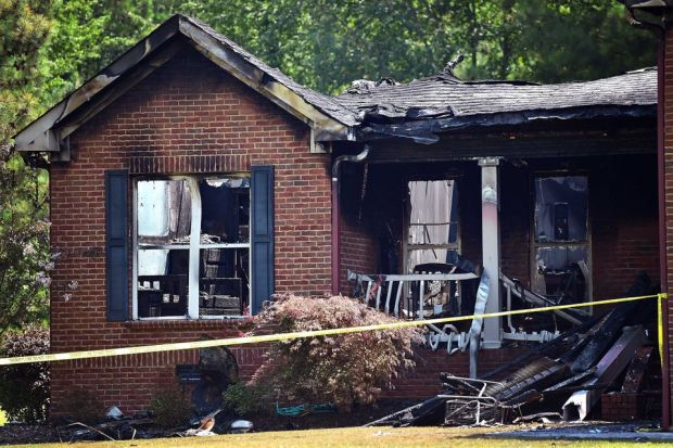 Kristen's mother Carol Jean Smallwood's burnt home 2 2