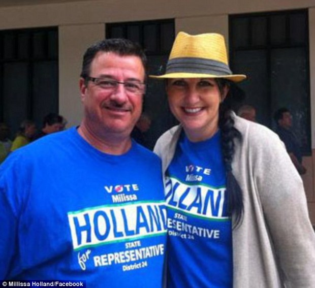 Palm Coast Mayor Millissa Holland and her husband David O'Brien