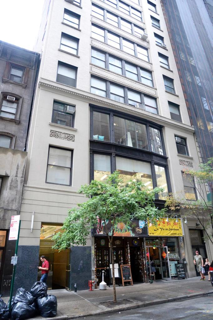 The scene of the stabbing at 14 East 33rd Street