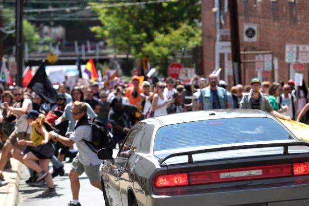 White supremacists and protesters clash following two-day rally in Charlottesville, Virginia