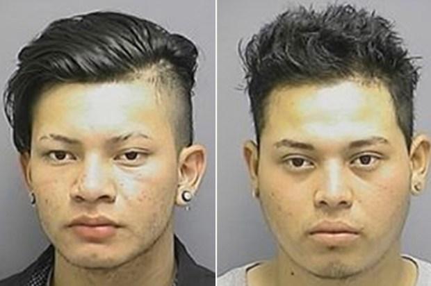 Alleged rapists Edgar Chicas-Hernandez [left] and Victor Gonzalez Guttierres