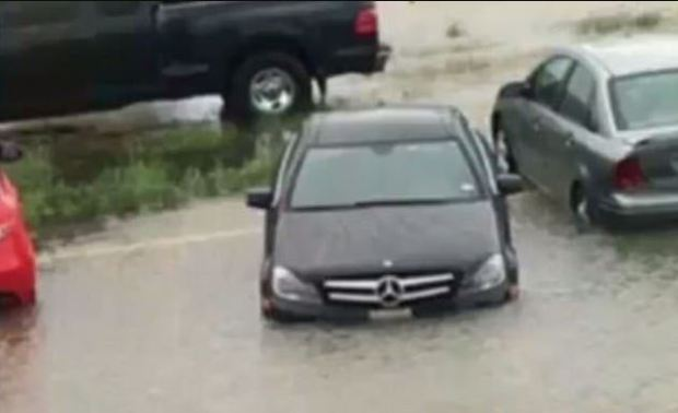 Crystal McDowell's black Mercedes was found in front of a motel, submerged in water