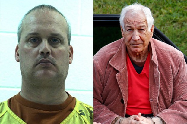 Jeffrey Sandusky and his father, Jerry Sandusky