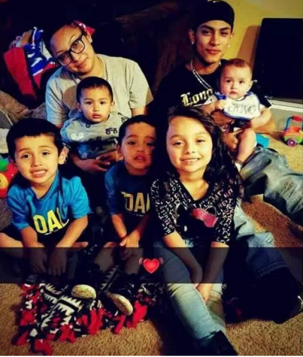 Victoria DeLeon, [top left], had five children with Antonio Sanchez [top right] 2.png