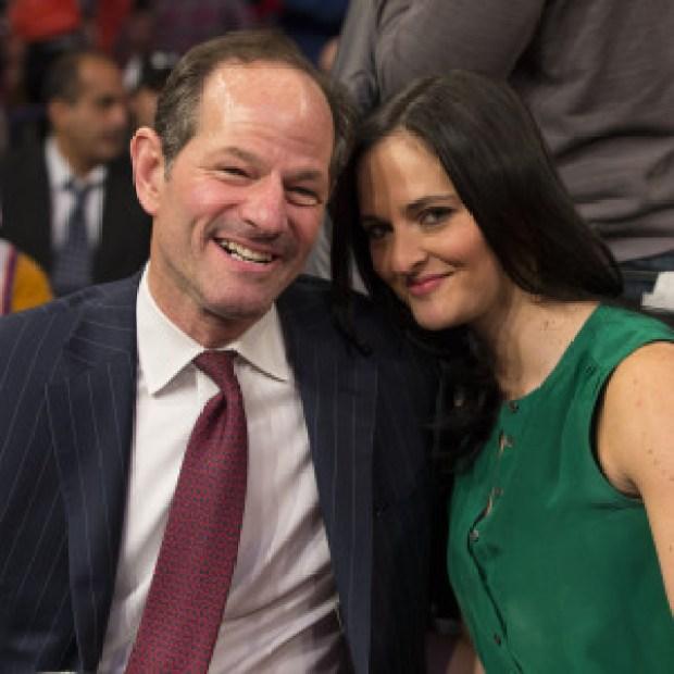 Eliot Spitzer and D'Blasio publicist Lis Smith.jpg