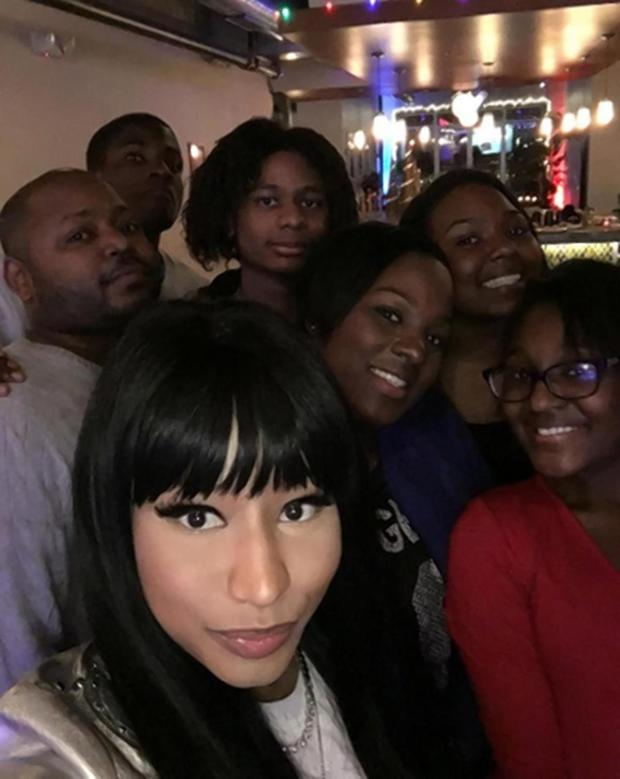 Jelani Maraj, accused of raping an 11-year-old, appears to the far left of five other family members.jpg