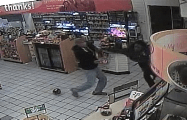Store clerk unleashes crunching blow on Andre Young 2