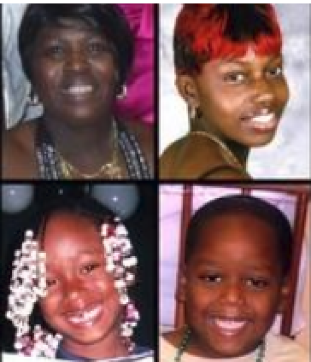 Clockwise from upper left, Bridget Gray, Jocalyn Gray, CorDarrian Hill and CorDerica Hill..png
