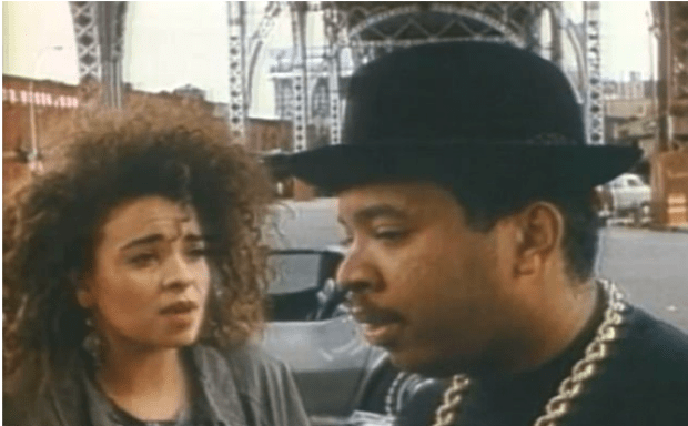 Jenny Lummet and Russell's brother, Joseph Simmons in 1988 .png