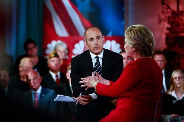 Matt Lauer interviews candidate Hillary Clinton in 2016.jpg