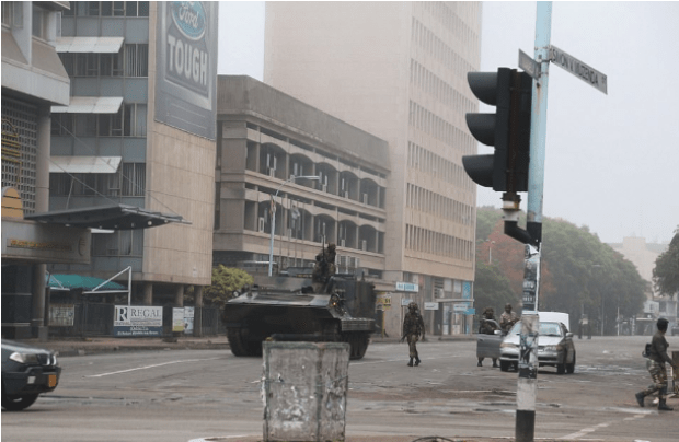 Troops and tanks seen on the streets of Zimbabwean capital of Harare 1.png