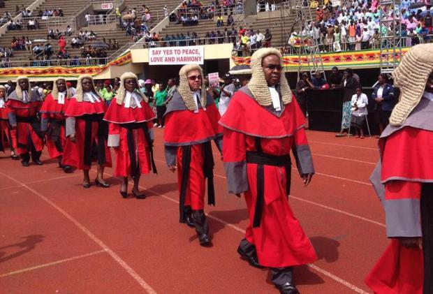 Zimbabwean judges witnessed Mnangagwa take the oath of office.jpg