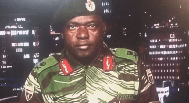 Zimbabwe's military stormed the country's national broadcaster's studios last night to declare there was no coup after explosions and gunfire were heard in the capital.png