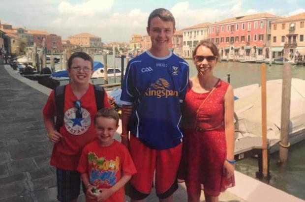 Clodagh Hawe and her three sons 1.jpg