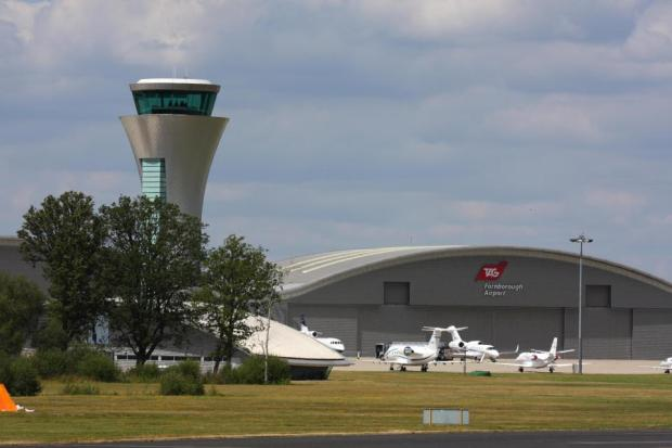The plane touched down at Farnborough on Monday morning, and was immediately intercepted by anti-drug cops.jpg