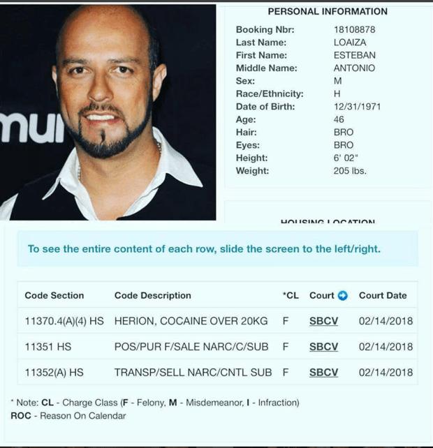Esteban Loaiza arrest card.png